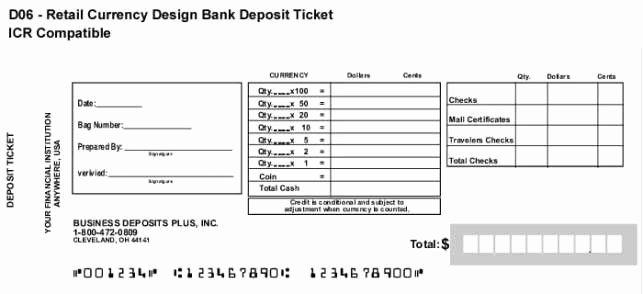 Deposit Slip Template Excel Fresh 10 Deposit Slip Templates Excel Templates
