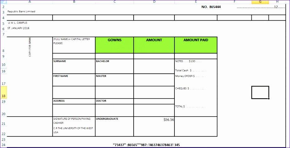 Deposit Slip Template Excel Inspirational 8 Deposit Slip Template Excel Exceltemplates Exceltemplates