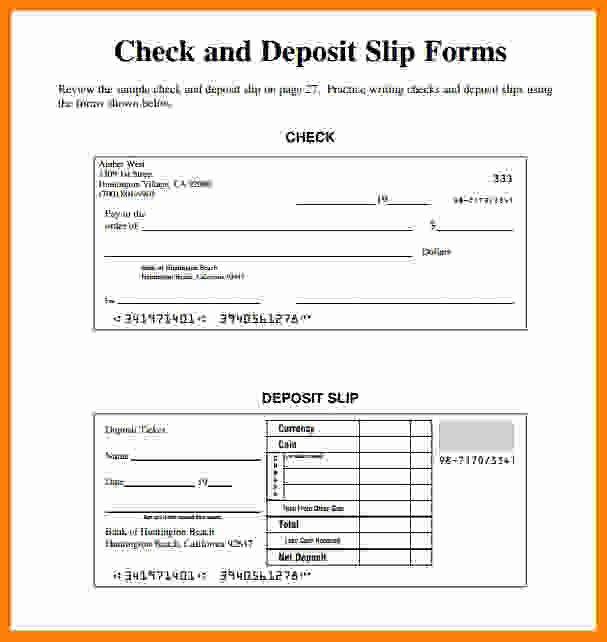 Deposit Slip Template Excel Luxury 8 Deposit Slip Template Excel Free