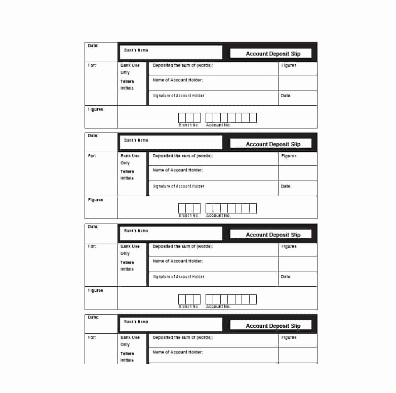 Deposit Slip Template Word Fresh 37 Bank Deposit Slip Templates & Examples Template Lab