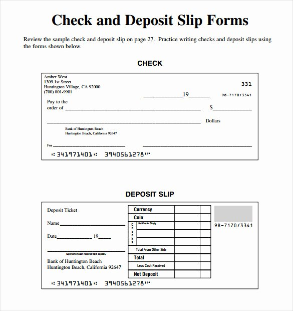 Deposit Slip Template Word Fresh Slip Template 13 Free Word Excel Pdf Documents