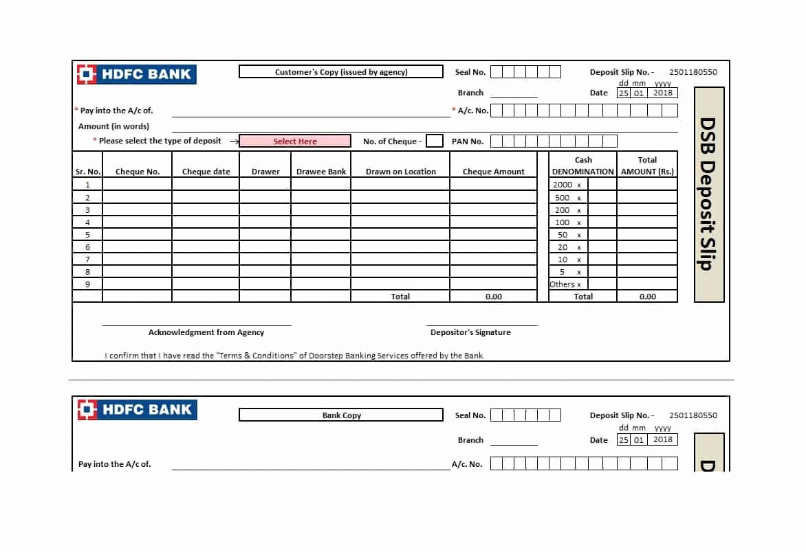 Deposit Slip Template Word Luxury 37 Bank Deposit Slip Templates & Examples Template Lab