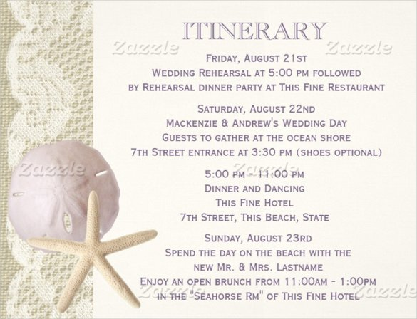 Destination Wedding Itinerary Template Beautiful 52 Wedding Itinerary Templates Doc Pdf Psd