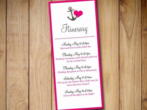 Destination Wedding Itinerary Template Best Of Beach Wedding Itinerary Template Wedding by Paintthedaydesigns