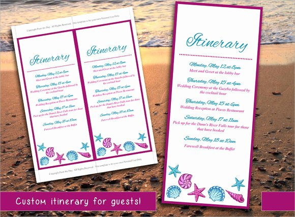 Destination Wedding Itinerary Template New Free 7 Wedding Itinerary Samples In Pdf Psd