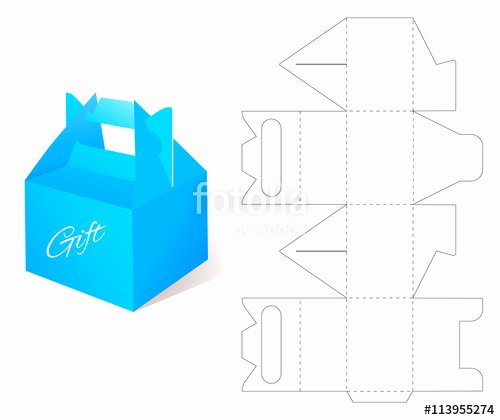 "Die Cut Box Templates Beautiful ""box with Die Cut Template Packing Box for Gift Other Products "" Stock Image and Royalty"