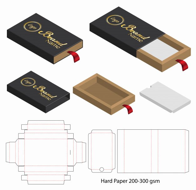 Die Cut Box Templates Lovely Box Packaging Cut Template Design 3d Mock Up Vector