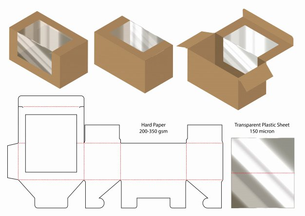 Die Cut Box Templates New Box Packaging Cut Template Design Vector
