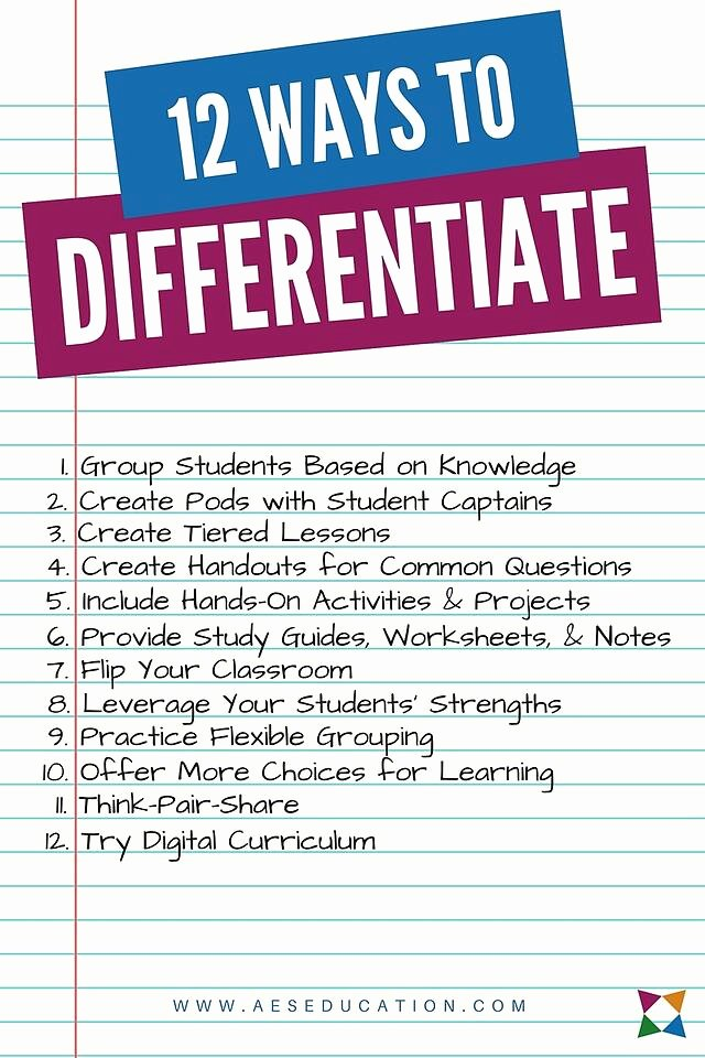 Differentiated Instruction Lesson Plan Template Lovely the 12 Best Differentiated Instruction Strategies for Cte