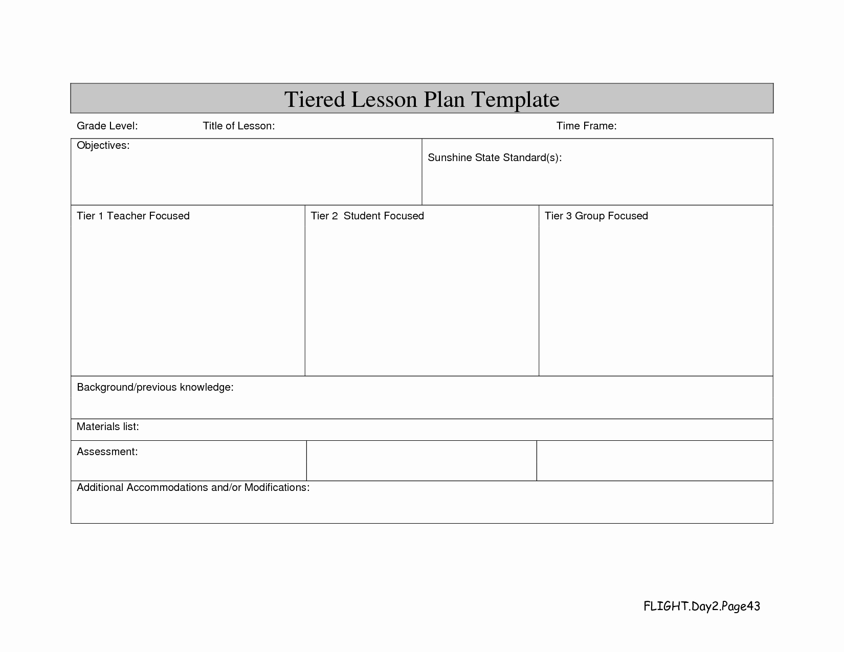 Differentiated Instruction Lesson Plan Template New Instruction Professional Development