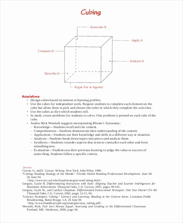 Differentiated Lesson Plan Template Lovely Differentiated Instruction Template 7 Free Word Pdf