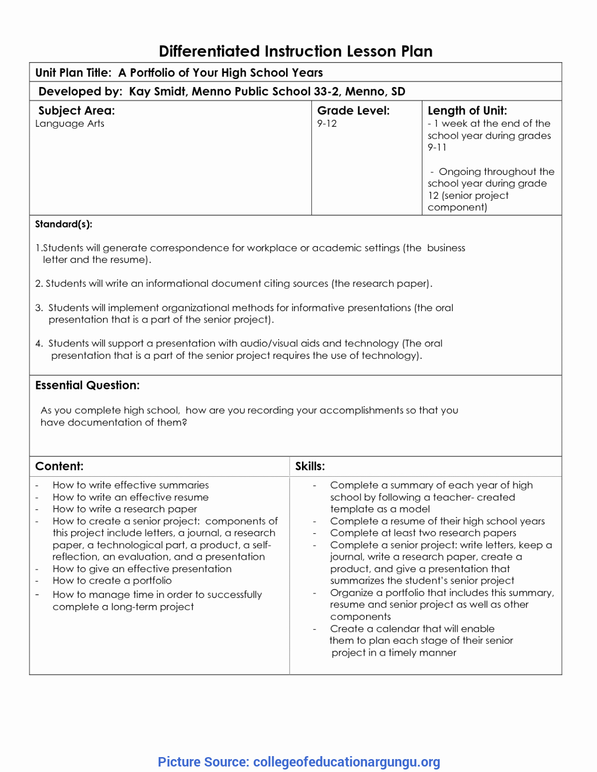 Differentiated Lesson Plan Template Luxury Excellent Differentiated Instruction Lesson Plans 39