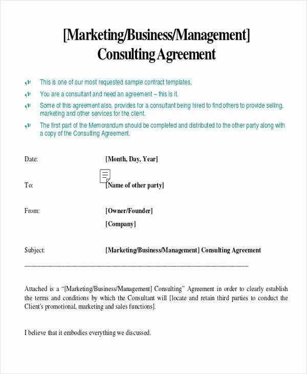 Digital Marketing Contract Template Elegant 41 Consulting Agreement Examples Word Pdf