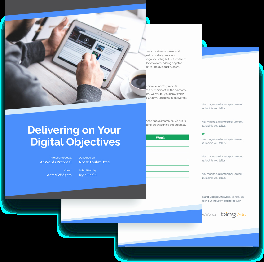 Digital Marketing Contract Template Elegant Adwords & Ppc Proposal Template Free Sample