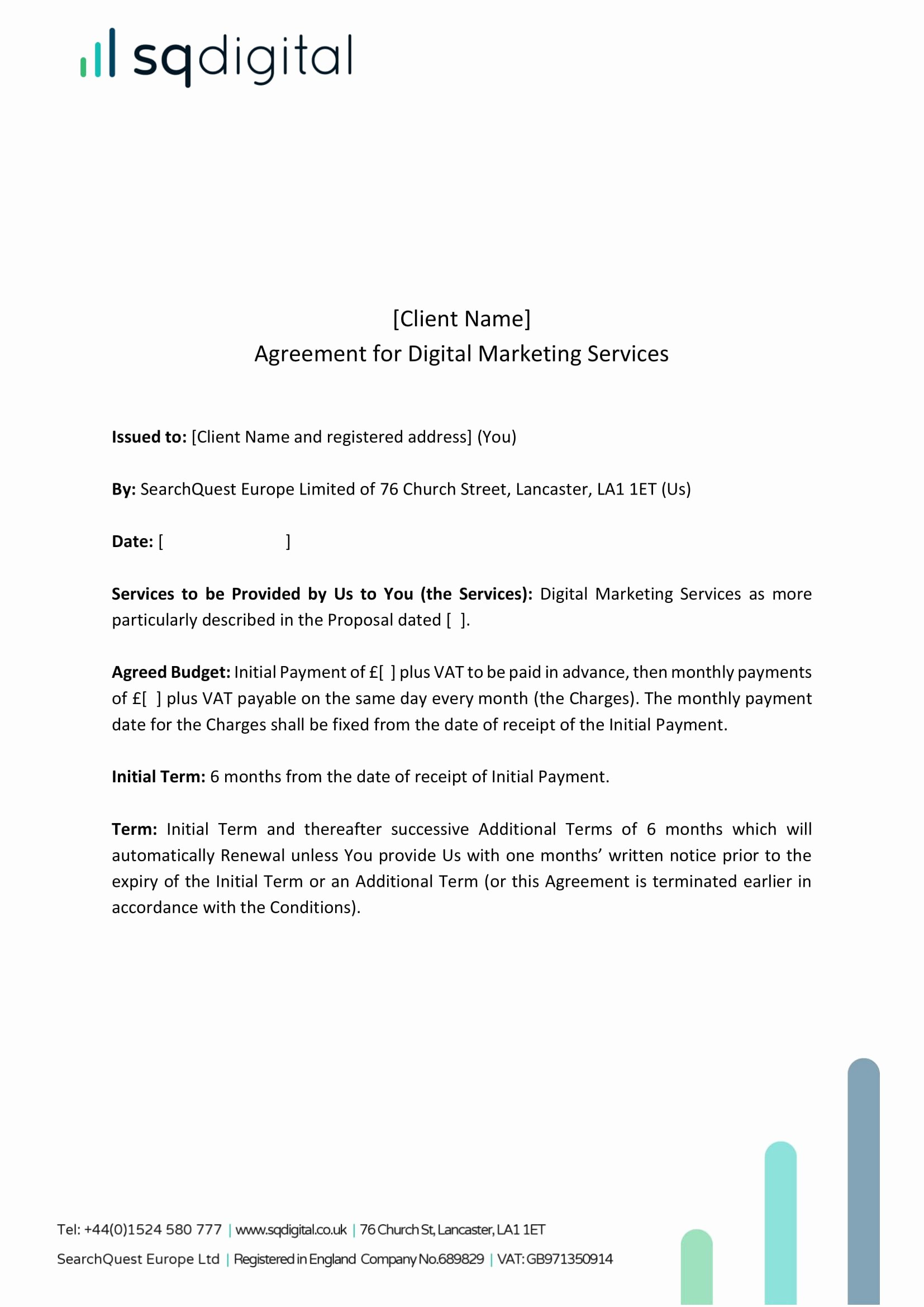 Digital Marketing Contract Template Unique 29 Marketing Agreement Templates and Examples Pdf Word