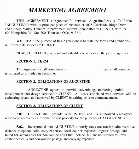 Digital Marketing Contract Template Unique [download] Marketing Agency Contract Template Bonsai