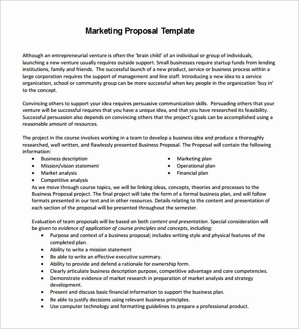 Digital Marketing Proposal Template Best Of Proposal Templates – 140 Free Word Pdf format Download
