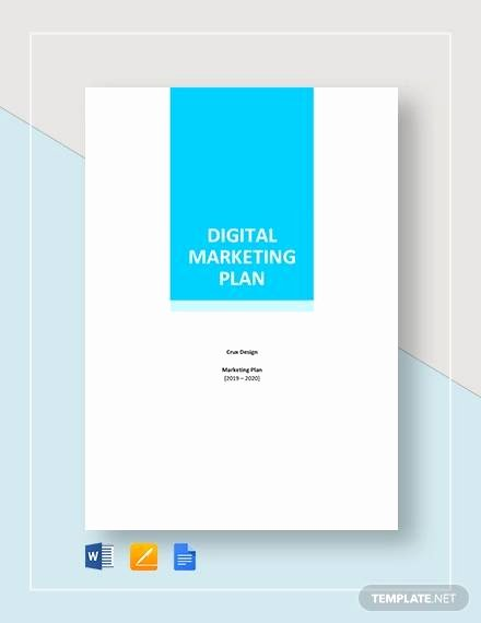 Digital Marketing Proposal Template Inspirational 10 Sample Digital Marketing Plans Examples In Word Pdf