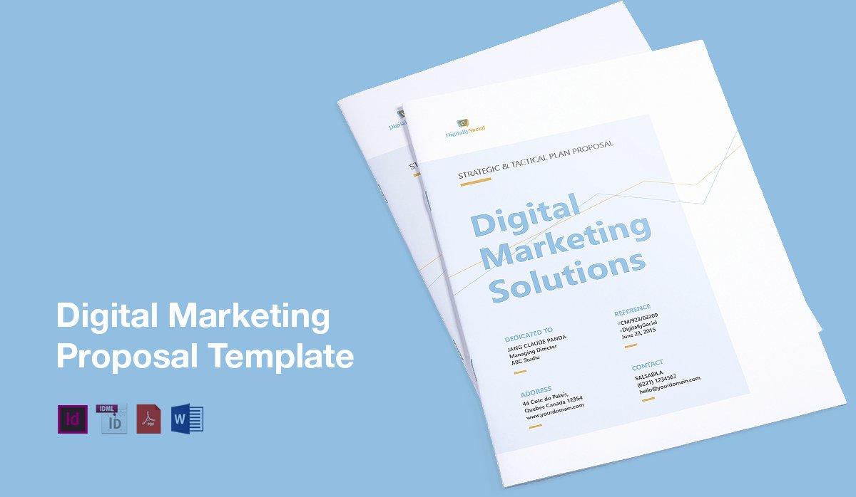 Digital Marketing Proposal Template Inspirational Clean Digital Marketing Proposal Template On Behance