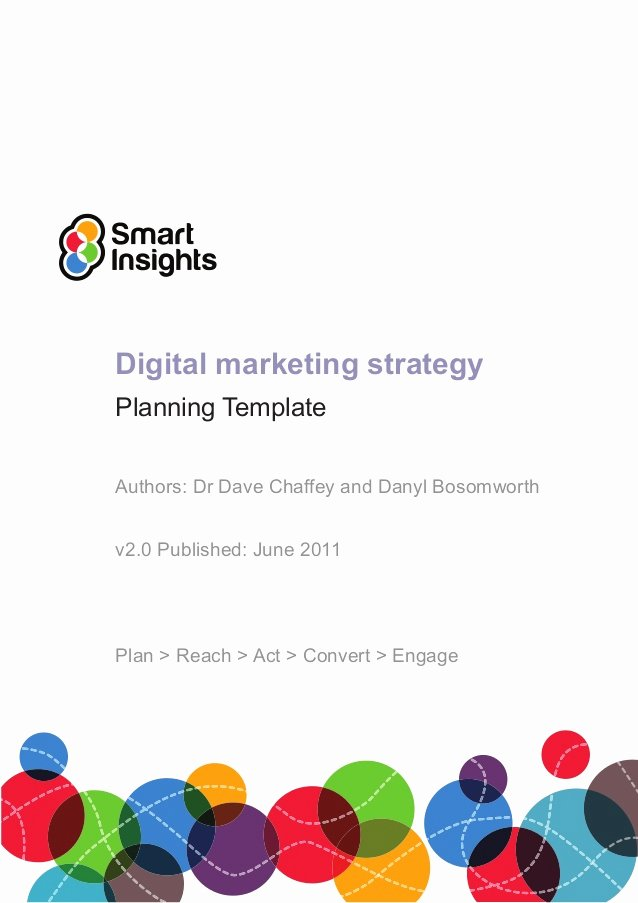 Digital Marketing Proposal Template Lovely Digital Marketing Plan Template