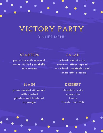 Dinner Party Menu Template Awesome Customize 197 Dinner Party Menu Templates Online Canva