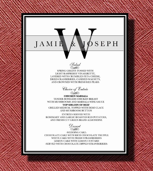 Dinner Party Menu Template Awesome Dinner Menu Templates 35 Free Word Pdf Psd Eps