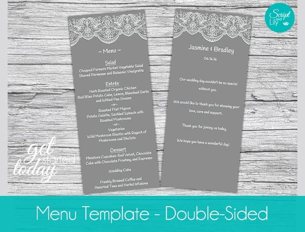 Dinner Party Menu Template Unique Free 25 Dinner Party Menus In Illustrator