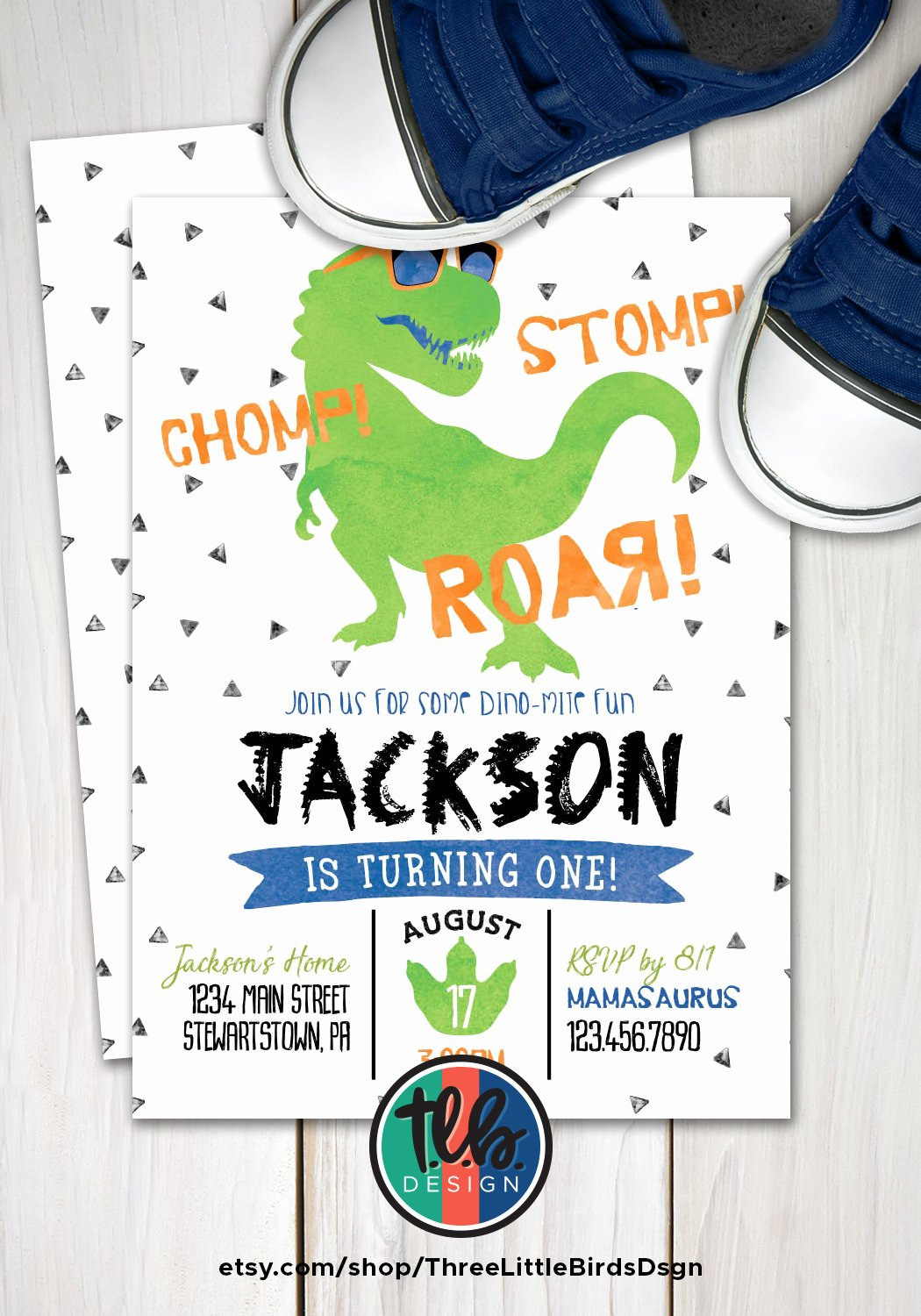 Dinosaur 1st Birthday Invitations Beautiful Dinosaur First Birthday Invitation T Rex Birthday Invite Boy