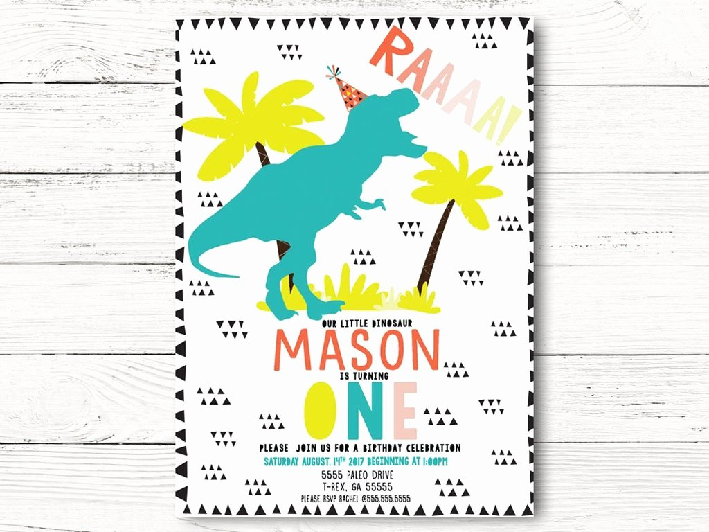dinosaur birthday invitation dinosaur birthday invite dino birthday party invitation dinosaur invitation first 1st birthday c063 0315