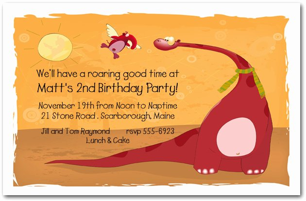 Dinosaur 1st Birthday Invitations Fresh Red Dinosaur Invitation Dinosaur Birthday Invitation