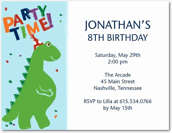 Dinosaur 1st Birthday Invitations Lovely 19 Roaring Dinosaur Birthday Invitations
