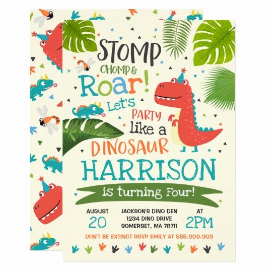 Dinosaur 1st Birthday Invitations Lovely Dinosaur Birthday Invitation Dinosaur Roar Party