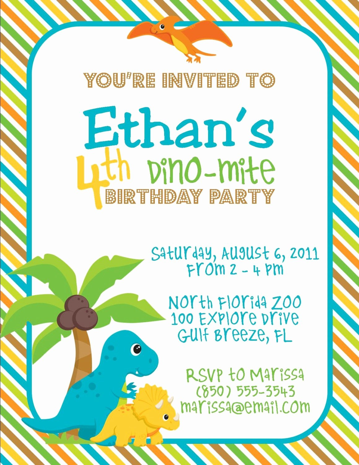 Dinosaur 1st Birthday Invitations Luxury Dinosaur Birthday Party 5x7 Invitation Boy Diy Printable