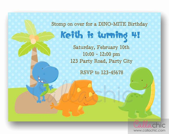 Dinosaur 1st Birthday Invitations Unique Dinosaur Invitation Printable Cute Boy 1st Birthday Invite
