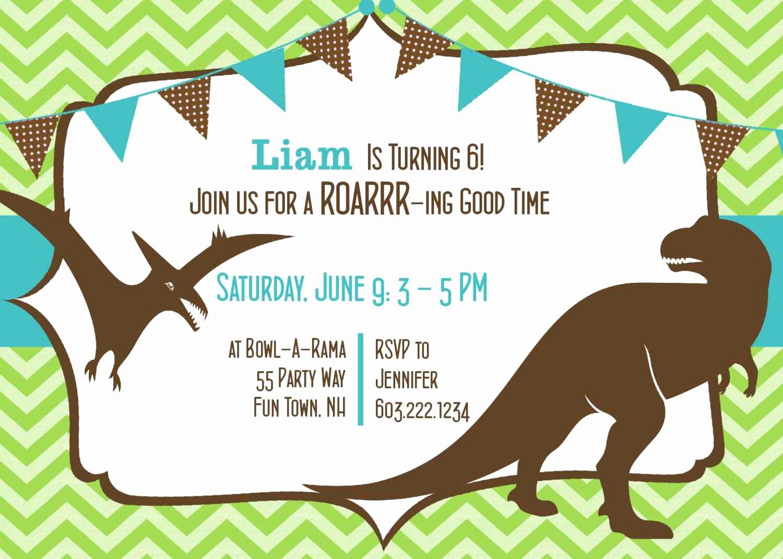 Dinosaur Birthday Invitation Template Beautiful Dinosaurs Invitation for Birthday