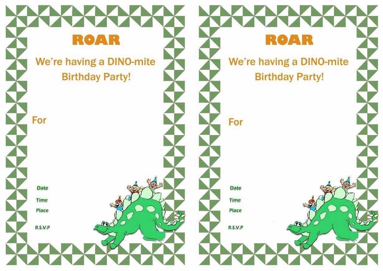 Dinosaur Birthday Invitation Template Best Of 17 Dinosaur Birthday Invitations How to Sample Templates