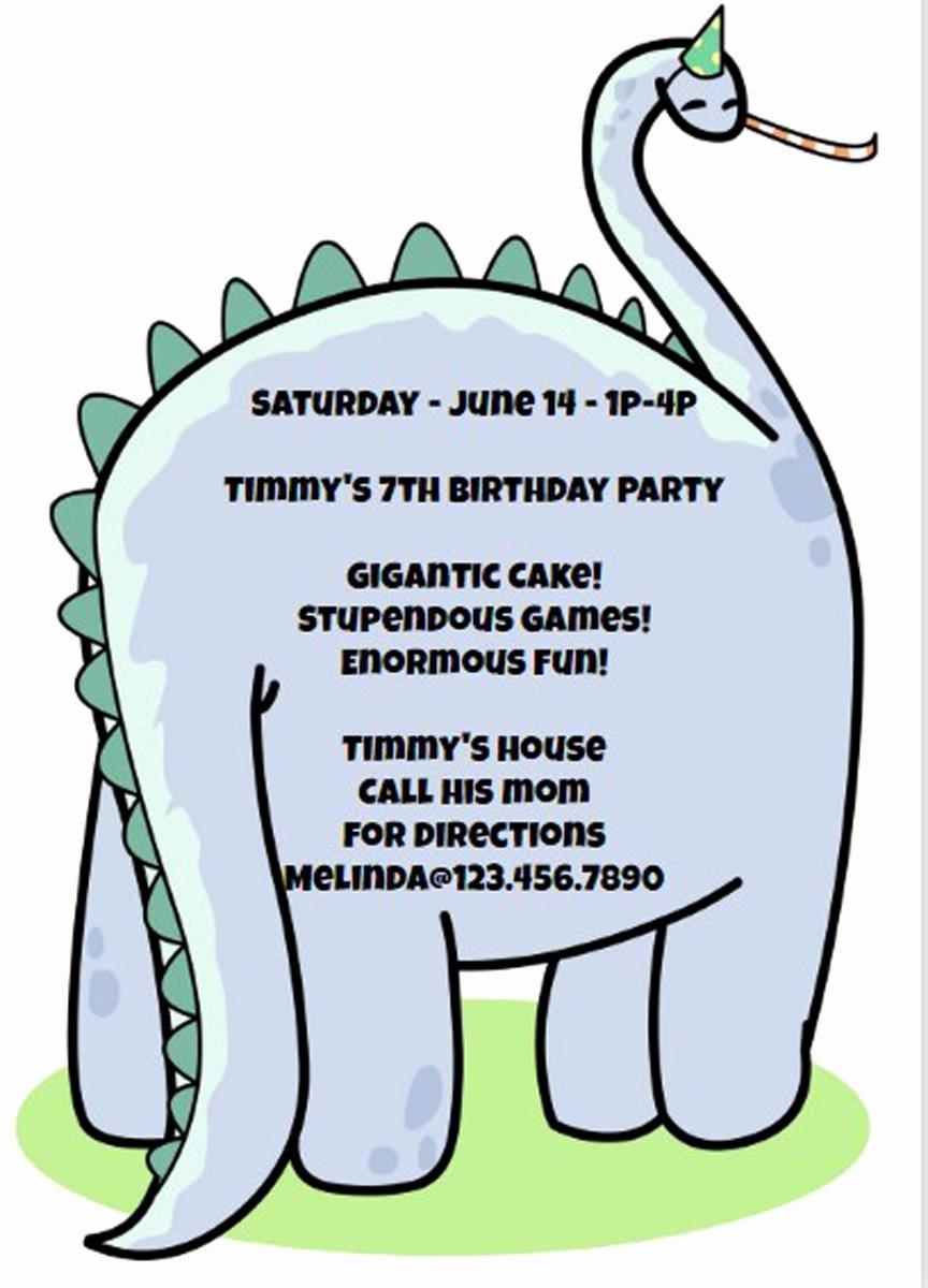 Dinosaur Birthday Invitation Template Elegant 17 Dinosaur Birthday Invitations How to Sample Templates
