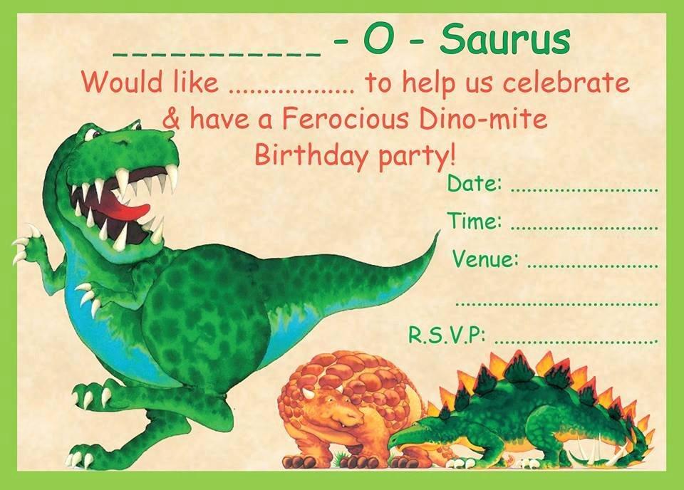 Dinosaur Birthday Invitation Template Inspirational 19 Roaring Dinosaur Birthday Invitations