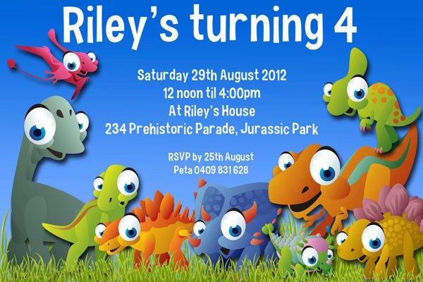 Dinosaur Birthday Invitation Template Inspirational Printable Birthday Invitations for Kids Boys or Girls