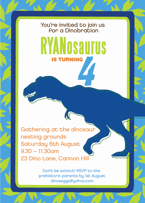 Dinosaur Birthday Invitation Template Inspirational Printable Dinosaur Invitations