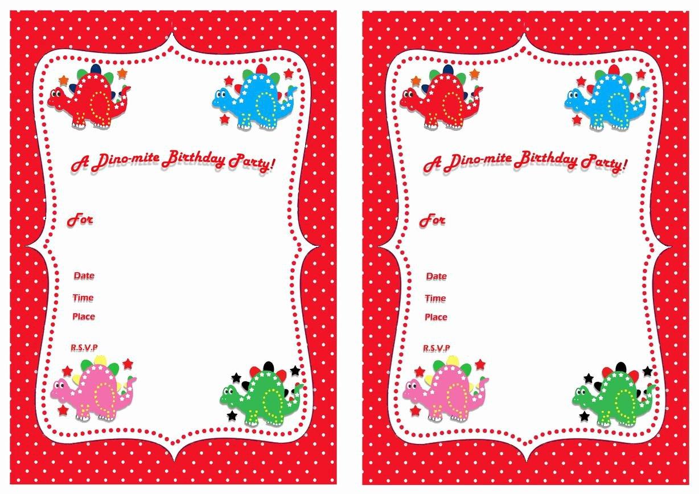 Dinosaur Birthday Invitation Template Luxury 17 Dinosaur Birthday Invitations How to Sample Templates