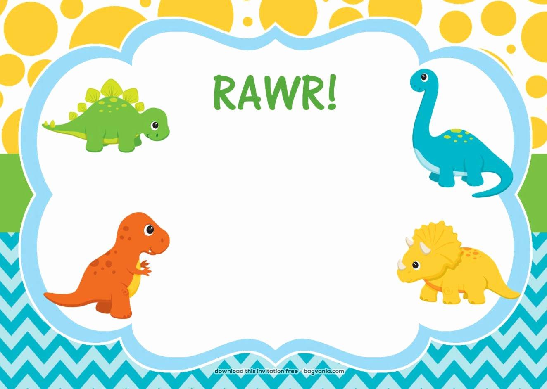 Dinosaur Birthday Invitation Template Luxury Free Dinosaur Birthday Invitations – Free Printable Birthday Invitation Templates – Bagvania