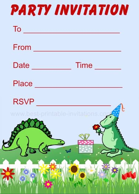 Dinosaur Birthday Invitations Free Beautiful Printable Dinosaur Birthday Invitations
