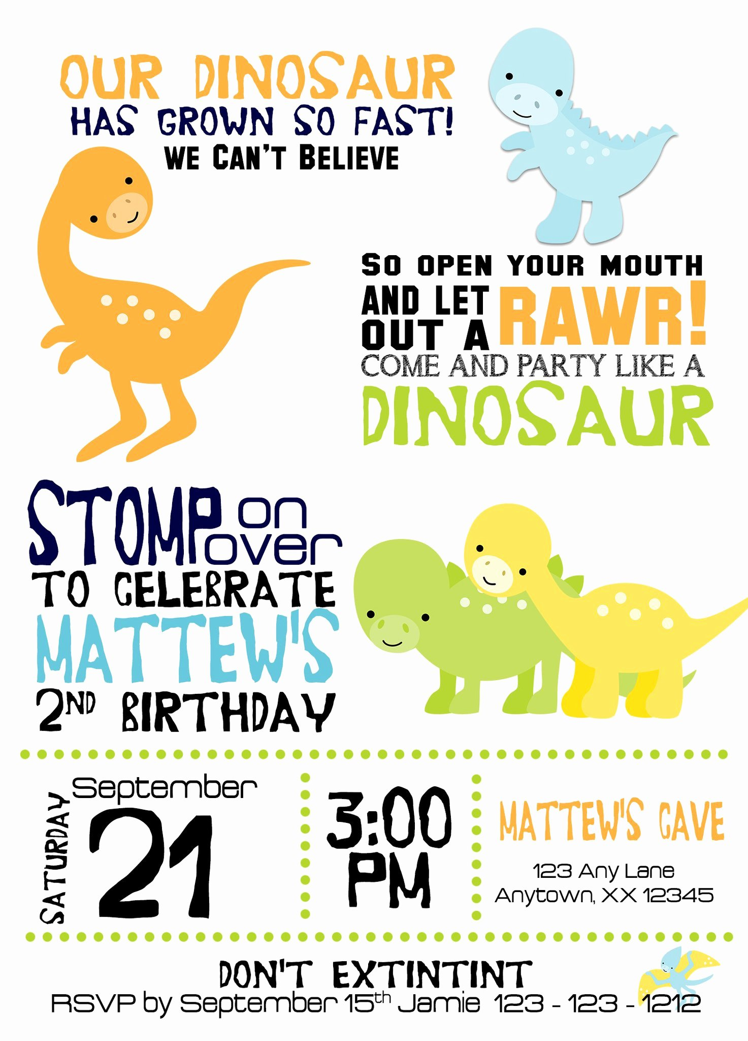Dinosaur Birthday Invitations Free Elegant Dinosaurs Birthday Invitation – Invitetique