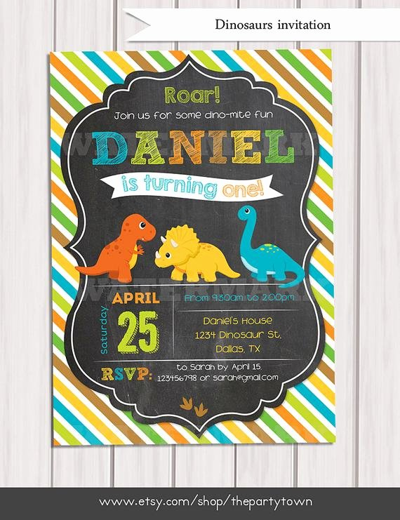 Dinosaur Birthday Invitations Free Fresh Dinosaur Birthday Invitation Dinosaur Chalkboard Invitation