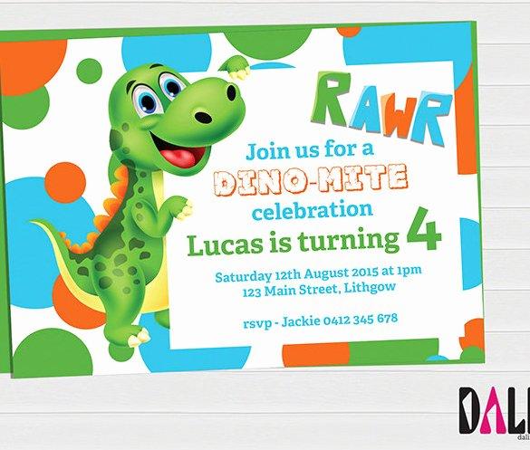 Dinosaur Birthday Invitations Free Inspirational 29 Dinosaur Boy Birthday Party Template – Omg Invitation