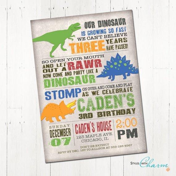 Dinosaur Birthday Invitations Free Inspirational Dinosaur Birthday Invitation Dinosaur Invitation Dinosaur