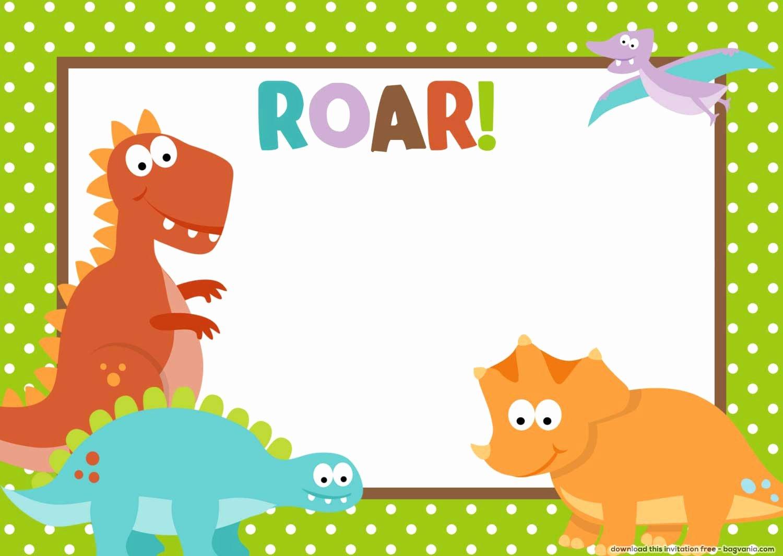 Dinosaur Birthday Invitations Free Inspirational Free Dinosaur Birthday Invitations – Free Printable Birthday Invitation Templates – Bagvania