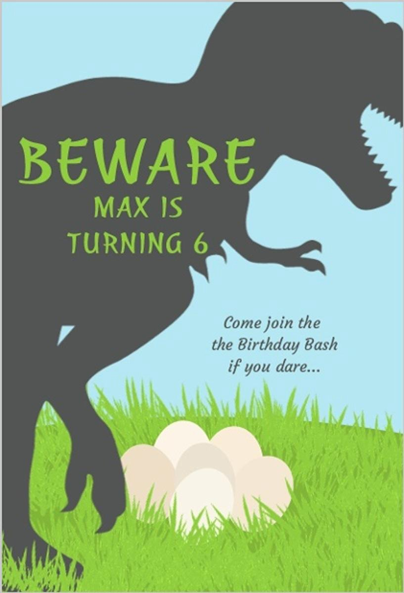 Dinosaur Birthday Invitations Free Unique 17 Dinosaur Birthday Invitations How to Sample Templates