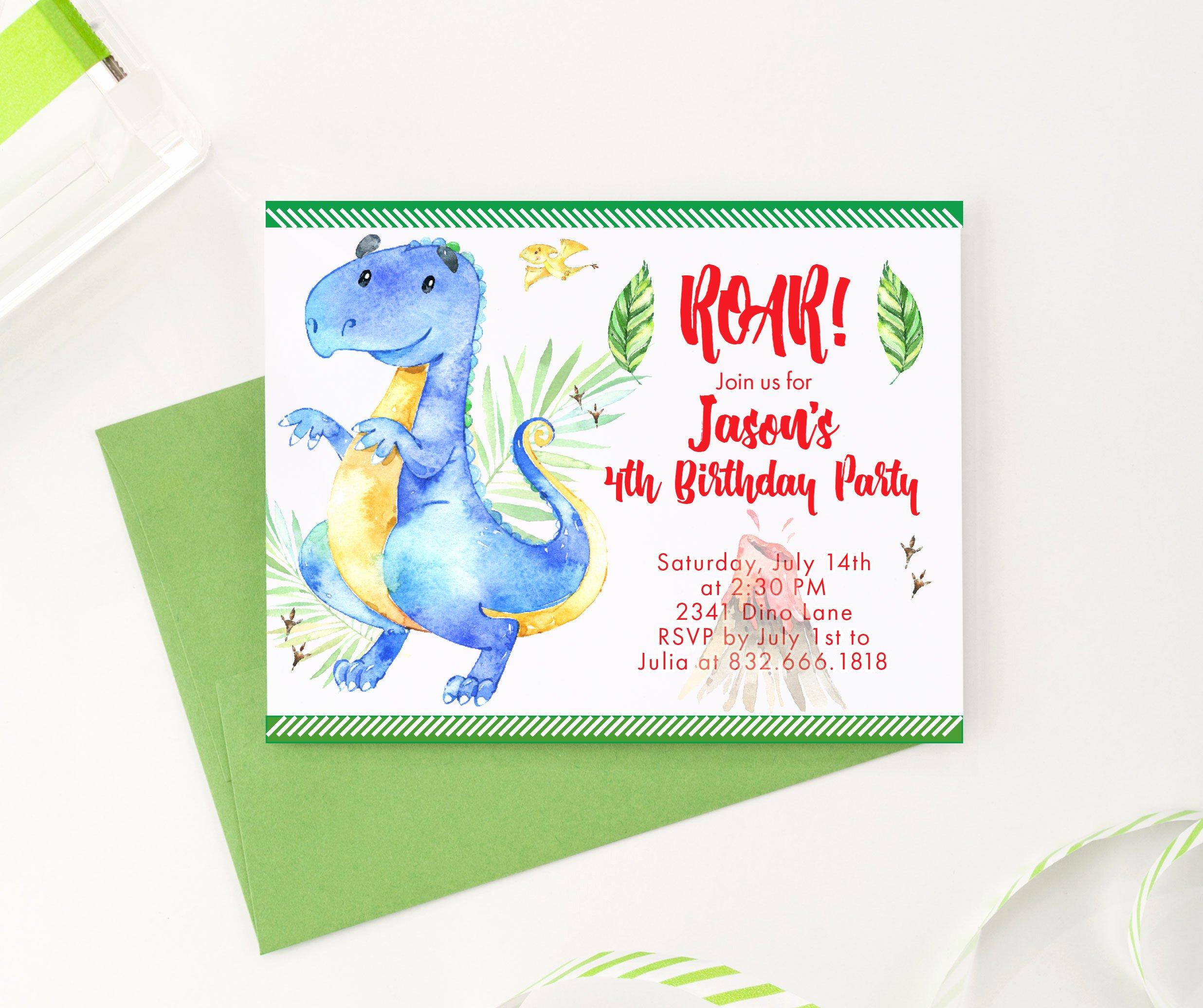 Dinosaur Birthday Party Invitations Beautiful Dinosaur Birthday Invitation Dinosaurs Dino Birthday